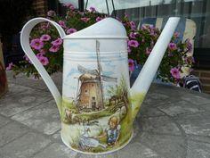 "Леечка "" Просторы Голландии» http://dcpg.ru/blogs/1230/ Click on photo to see more! Нажмите на фото чтобы увидеть больше! decoupage art craft handmade home decor DIY do it yourself watering can"