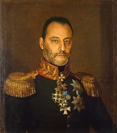 Russian Military Portrait of Jean Reno by Steve Payne. This is my favorite one of the collection.