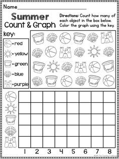This no prep, print & go packet contains Summer themed alphabet practice, rhyming, syllables, reading comprehension, patterns, numbers 1-20, counting, adding, subtracting, shapes, and more! Perfect for end of year review! 81 ready to use, no prep math and literacy printables in ink saving black and white. Aligned to kindergarten Common Core standards.