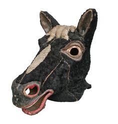 Vintage Black Horse Masquerade Mask, c1930s