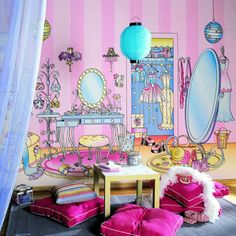 Can't wait to use this concept in a little girl's room!