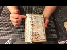 My vintage shabby chic junk journal - made for my sweet friend Lori (Just A Girl From The Bay) - YouTube