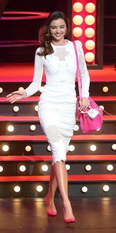 Miranda Kerr hot pink accessories