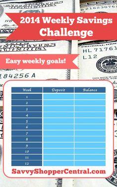 52 Week Savings Challenge - http://www.savvyshoppercentral.com/52-week-savings-challenge/