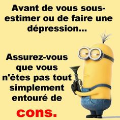 Citation sur les cons Quote Citation, Minions, My Mood, Revenge, I Love You, Acting, Knowledge, Jokes, Positivity