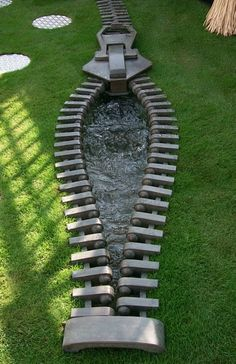 It is not your typical garden feature