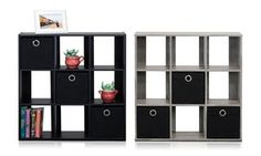 Groupon - Simplistic 9-Cube Organizer Shelf with 3 Nonwoven Bins. Groupon deal price: $35.99