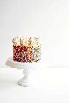 Funfetti Cake Batter Cake and Macarons 3