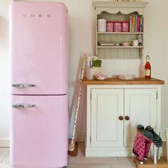 Pink Smeg Fridge