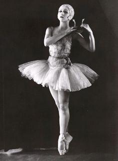 "Alexandra Danilova in ""Apollo"" (c. 1928). Library of Congress Collection."