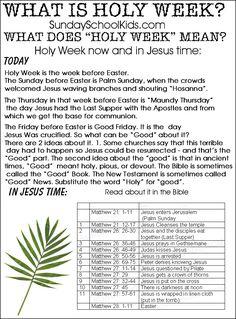 When is Holy Week? W