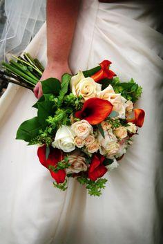 Very pretty!  Alli's fall bouquet | Weddingbee Photo Gallery