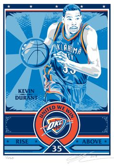 Limited-edition handmade screen print on paper featuring Kevin Durant.Each print is signed by artist Chris Speakman. Durant Nba, Kevin Durant, Durant Oklahoma, Propaganda Art, Oklahoma City Thunder, Design Model, Captain America, Air Max, Screen Printing