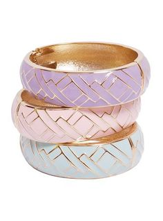 PASTEL GEOMETRIC BANGLES ✨ Fashion Jewelry & Accessories ✨ Arm Candy ✨