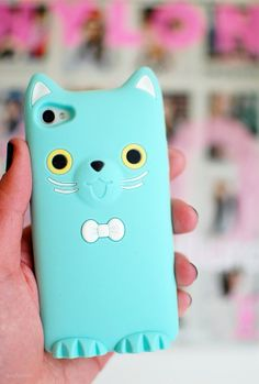 Blue Coco Cat Silicone Soft Case for iPhone 5/5s - iPhone 5S Cases - iPhone Cases