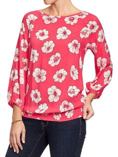 Women's Floral Blouses Old Navy