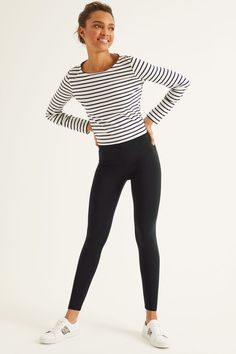Our supersoft leggings always keep their shape and now have a wider waistband and slightly higher rise - so they& more flattering, supportive and comfortable than ever. Just don& blame us if you never want to take them off. Urban Fashion Women, Black Women Fashion, Casual Fall Outfits, Cool Outfits, Boden Uk, Ethical Clothing, Trends, Mode Online, Women's Summer Fashion