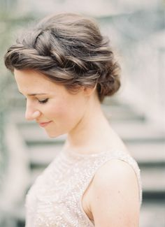 Swooning over this braided chignon.