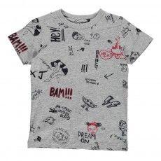 Cats Comics T-Shirt Heather grey