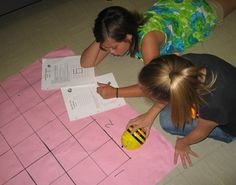 Calculating with Bee-Bot. Programmable bee robot - comes with grid mat.  Elementary-aged.