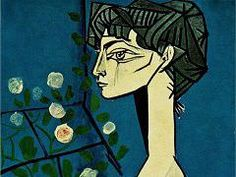 Jacqueline with flowers by Picasso