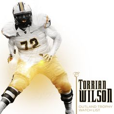 Torrian Wilson saw his name appear on the Outland Trophy watch list for the nation's best interior lineman. Ucf Football, Ucf Knights, Lineman, Watch, Interior, Clock, Journeyman Lineman, Design Interiors, Interiors