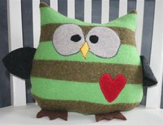 NobleUpcycling Wool Owls Are a Hoot! upcycled felted wool owl ...
