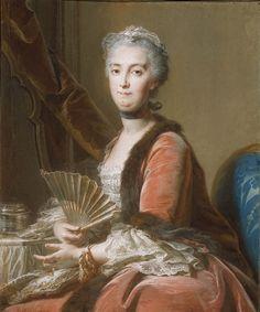 Anne de Lamoignon de Malesherbes, the comtesse Sénozan circa 1751, by Jean Valadel (c) The Detroit Instiute of Arts