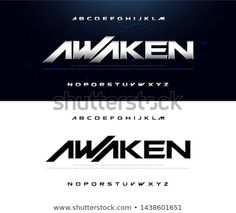 Find Sport Modern Technology Alphabet Font Typography stock images in HD and millions of other royalty-free stock photos, illustrations and vectors in the Shutterstock collection. Graphic Design Fonts, Typo Design, Typography Design, Branding Design, Script Lettering, Typography Fonts, Game Font, Sports Fonts, Dj Logo