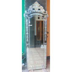Venetian Mirror Eletra MG 001010 >> Venetian Mirror Manufacture Wholesale Size : H 200 cm x 70 cm Venetian Glass, Venetian Mirrors, Distressed Mirror, Beveled Glass, Minimalist Design, Stained Glass, Fantasy, Vintage, Style