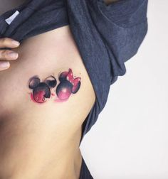 Mickey and Minnie Mouse Tattoo by Fatih Odabaş