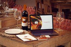 Wine Bottle, MacBook, Business Cards and Menu Mockup by 4to Pixel on @originalmockups