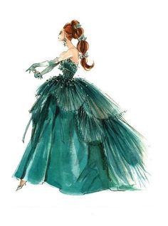 "Barbie Robert Best Print ""Gown"""