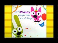 Hoops Yoyo Birthday Card Youre Not Old