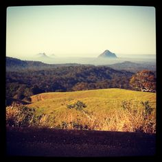 Flashback to Tri Camp, the view from above Peachester, taken while riding :)