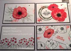 Kristien Saeys: Workshop 17 januari 2020 peaceful poppies Stampin'Up Scrapbooking, Scrapbook Cards, Cool Cards, Diy Cards, Poppy Cards, Homemade Birthday Cards, Stamping Up Cards, Pretty Cards, Sympathy Cards