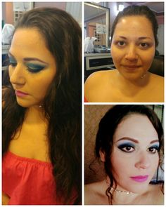 Maquillaje de noche en tonos azules