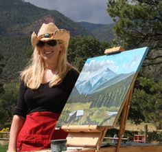 Artist Mary Lanka painting in the mountains of Southwest Colorado, member of the Gallery Uptown in Grand Haven, Michigan. Grand Haven, Wearable Art, Painting & Drawing, Jewelry Art, Michigan, Colorado, Mary, Fine Art, Mountains