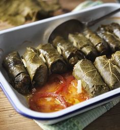 Once you get the hang of them, making dolmades (Greek stuffed vine leaves) is very easy. Good as a main, starter or mezze selection