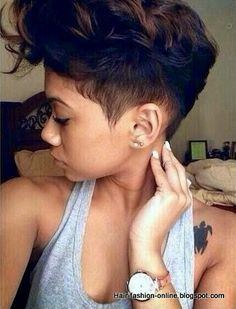 Cute short black hairstyles for women Short Haircuts, Cute Hairstyles For Short Hair, Short Hairstyles For Women, Curly Hair Styles, Popular Haircuts, Cut Life, Girls With Boy Haircuts, Simple Hairstyles, Natural Hairstyles