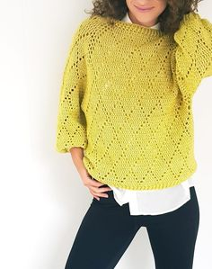"""Crochet Blusas Patterns free pattern-My precious sweater - """"My Precious"""" Sweater ByKaterina Crochet Pattern for sizes from Small to Large with chart and video tuttorial. Crochet Woman, Diy Crochet, Crochet Top, Pullover Design, Sweater Design, Black Crochet Dress, Crochet Cardigan, Do It Yourself Fashion, Crochet Hook Sizes"""