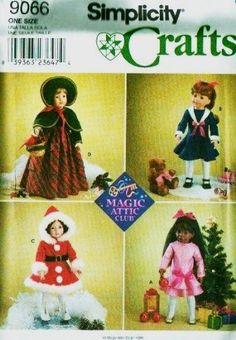 SIMPLICITY 9066 ~ MAGIC ATTIC CLUB DOLL PATTERN ~ 18 inch Doll ~ SIMPLICITY http://www.amazon.com/dp/B0085BY44E/ref=cm_sw_r_pi_dp_j6EHub1XMJ9ZW