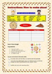 English Worksheets: How to write a recipe | process of cooking ...