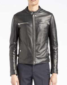 $3,690, Lanvin Leather Biker Jacket. Sold by Lanvin. Click for more info: https://lookastic.com/men/shop_items/188586/redirect