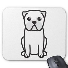 Pug Dog Cartoon Mousepad