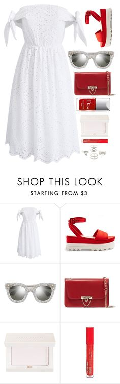 """End Of Summer"" by smartbuyglasses-uk ❤ liked on Polyvore featuring Chicwish, Miu Miu, Gucci, Valentino, Puma, Couture Colour, L.A. Colors, Charlotte Russe, white and red"