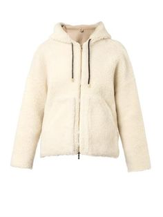 Hooded shearling short-length coat | Inès & Maréchal | MATCHES...