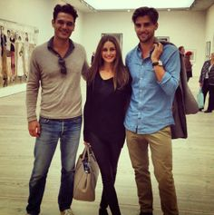 THE OLIVIA PALERMO LOOKBOOK: Olivia Palermo with Johannes Huebl and a friend.