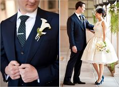 navy suit for the groom