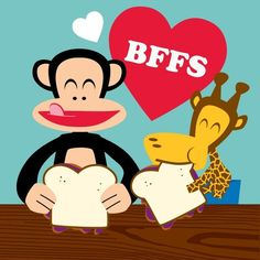 @Bekah Steiner- Paul Frank monkey & giraffe bffs Bekah, you can decide who the giraffe is.